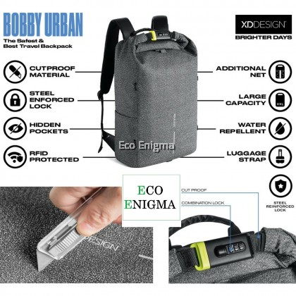 Bobby Urban - The Safest Travel Backpack (FREE KFC voucher worth RM10)