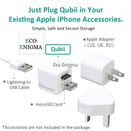 Qubii Auto Backup While Charging for iPhone iPad iPod – Eco Enigma