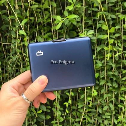 Ogon BIG Stockholm V1 Theft Proof Card Case RFID Safe - Navy Blue 2019