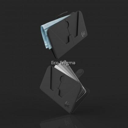 TIC Holder - Card-sized foldable holder for Phone / Mask (Black)