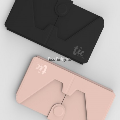 TIC Holder - Card-sized foldable holder for Phone / Mask (Pink)
