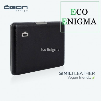 Big Ogon Stockholm V1 Card Case RFID Safe Leather Version - Simili Black