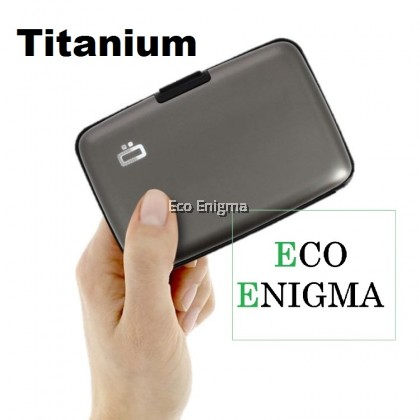 OGON Stockholm V1 Theft Proof Card Case RFID Safe - Titanium