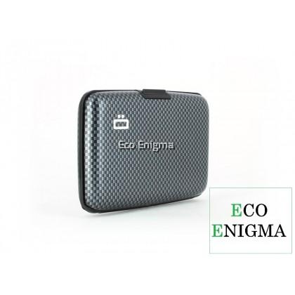 OGON Stockholm V1 Theft Proof Card Case RFID Safe - Carbon Taffeta