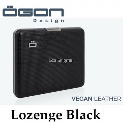 Big Ogon Stockholm V1 Card Case RFID Safe Leather Version - Lozenge Black
