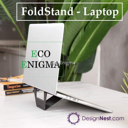 Fold Stand for laptop – Universal laptop stand with better airflow - Washable Reusable Anti Slip