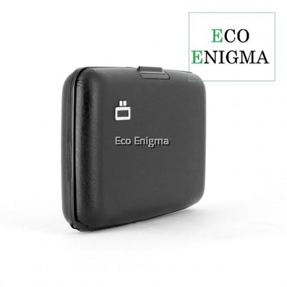 Ogon Stockholm V1 Card Case RFID Safe Vegan Leather Version 2021 - Full Black