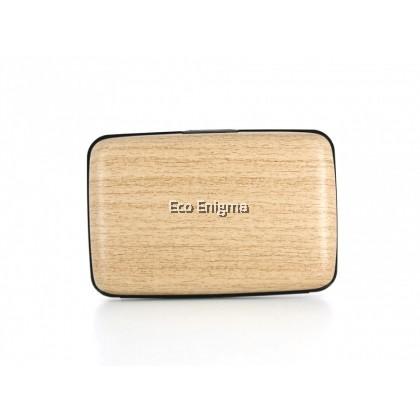 Ogon Smart Case Original V1 with Aluminium Style, RFID Theft Proof Card Case (Colour: Bamboo )
