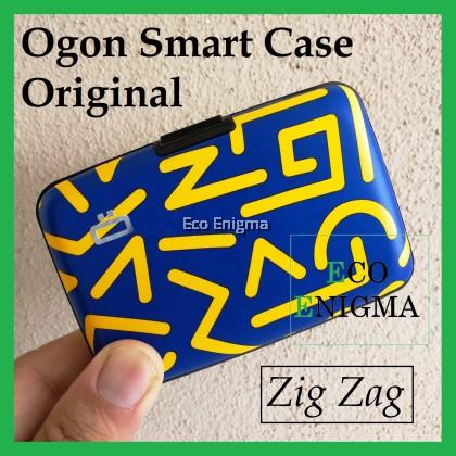 Ogon Smart Case Original V1 with Aluminium Style, RFID Theft Proof Card Case (Colour: Zig Zag )