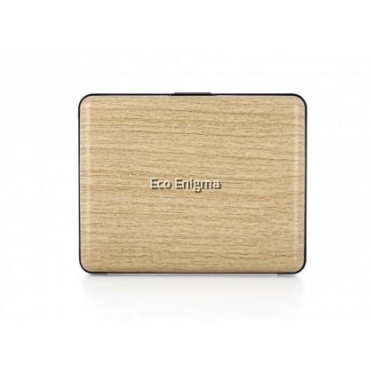 Ogon Smart Case V1 Large with Aluminium Style, RFID Theft Proof Card Case (Colour: Bamboo )