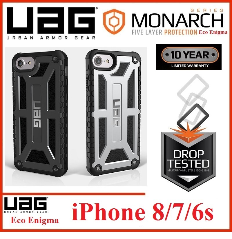 URBAN ARMOR GEAR (UAG) MONARCH Series for iPhone 8 7 6 6s (Platinum)