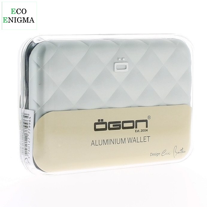 OGON Quilted Button Wallet Theft Proof RFID Safe - Silver