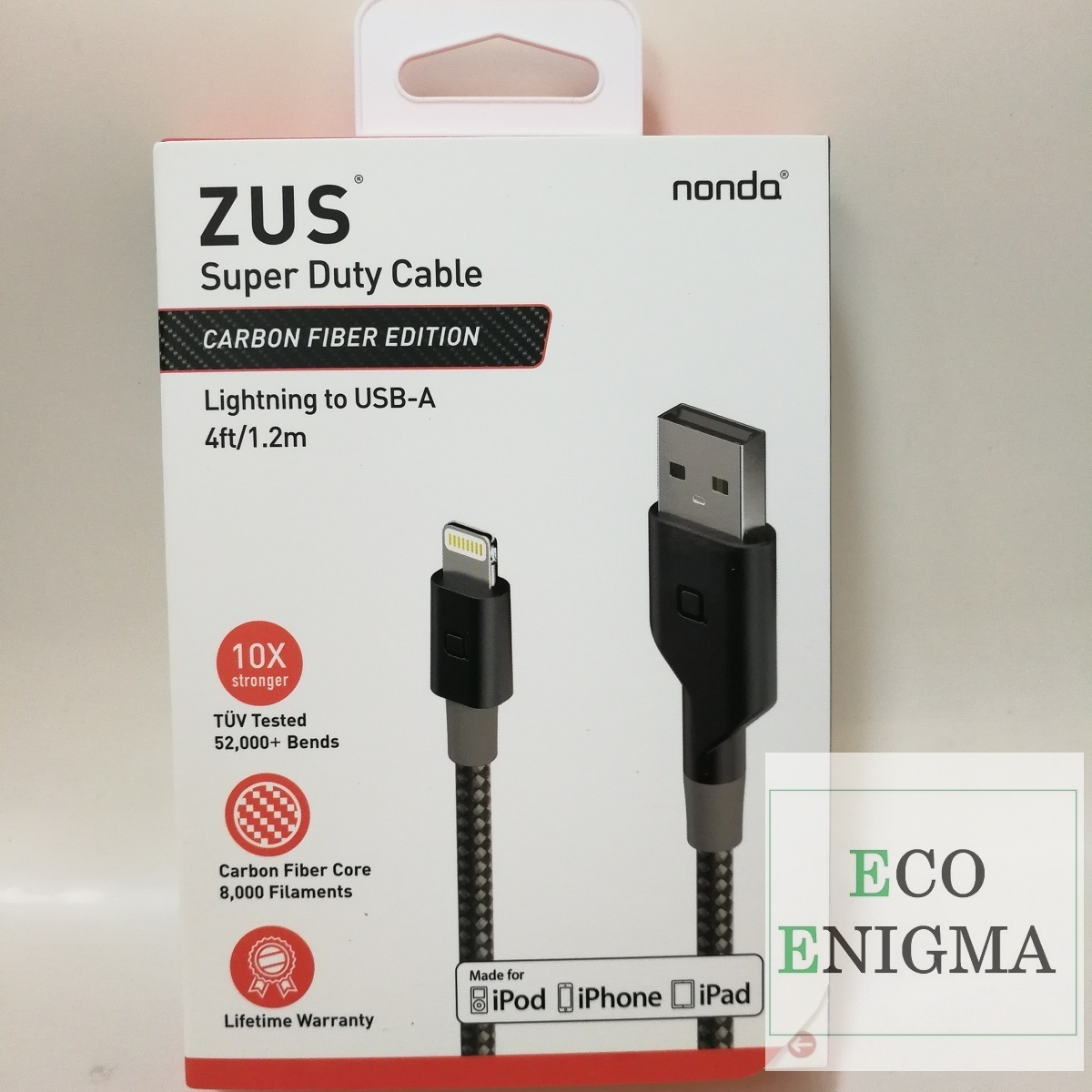 ZUS® Super Duty Lighting Charging Cable – Straight Head 1.2m