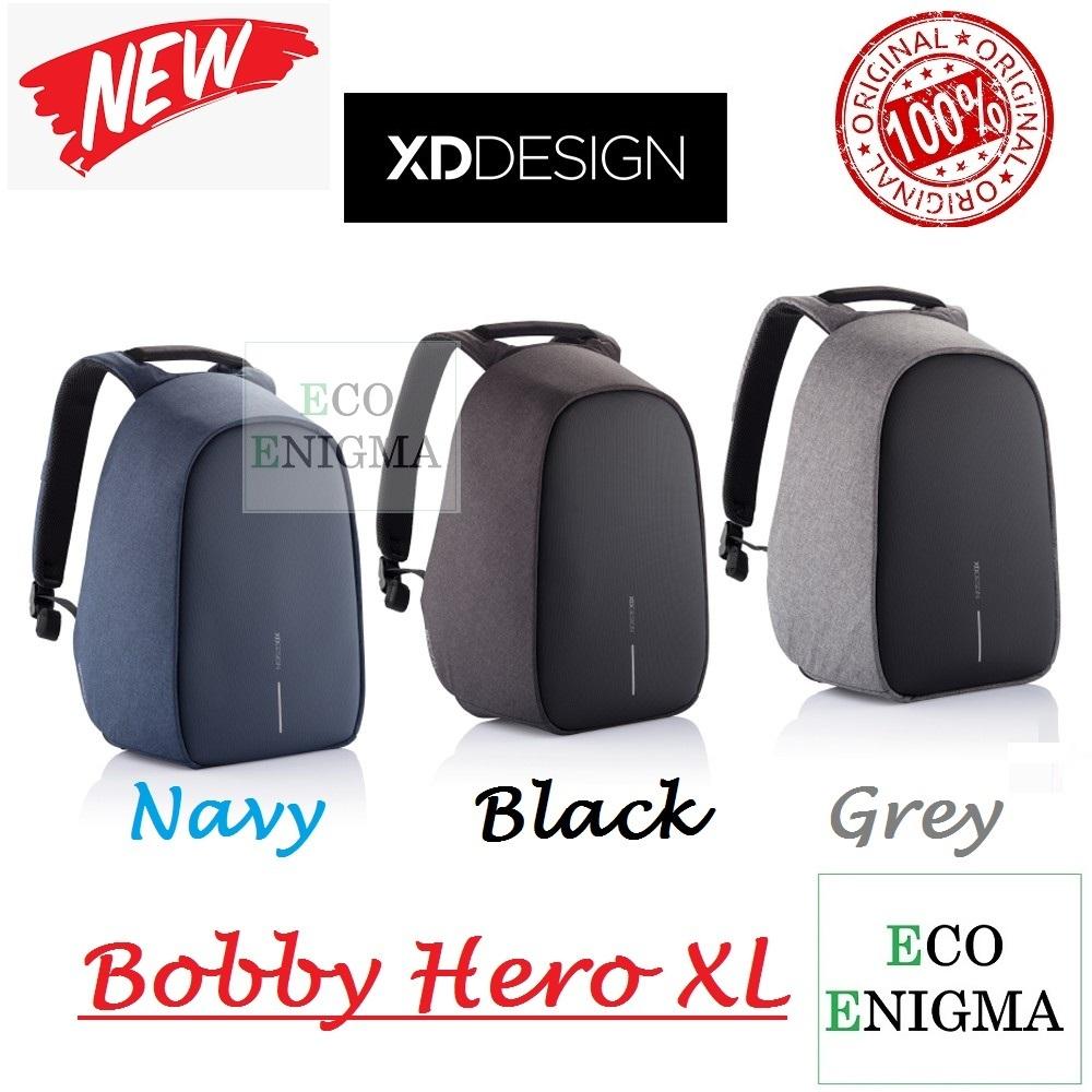 "XD Design Bobby Hero XL Anti Theft Backpack 17"" (Grey Blue Navy)"